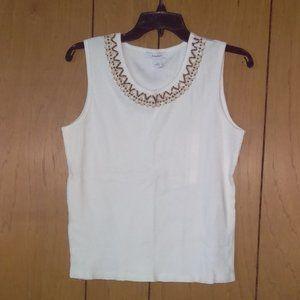Size L Dressbarn Tank Top - White